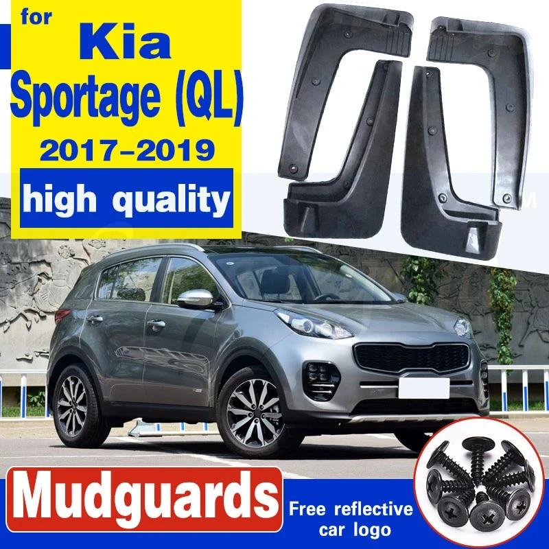 Maite For Kia Sportage MK2 2017 2018 2019 QL Series Car Front and Rear Mud Flaps Splash Guards Fender Mudguard 4Pcs