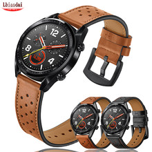 Bracelet pour Samsung Galaxy watch 3/ Gear S3 Frontier, 22mm, en cuir véritable, pour huawei watch gt 2-2e-pro, 42mm, 46mm