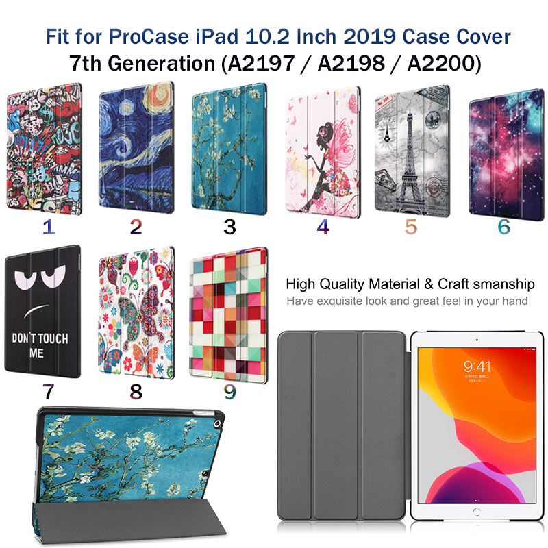 Apple iPad/8th/Cas Magnetic 8-8th-Generation Case for Smart-Cover iPad A2428/a2429 Sleep