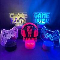Lampada da notte 3D lampada da gioco scrivania installazione Decor tavolo gioco Console icona Logo sensore luce bambini bambino comodino regalo compleanno natale