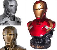 [New] 35cm Avengers Iron Man 1:1 MK46 Head bust Portrait With GK Action Figure statue Collectible Model Toy gift
