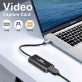 4K видео карта захвата USB 3,0 2,0 HDMI HD 1080p видео захвата записи коробка для переключатель Камера прямые трансляции Запись PS4 рекордер
