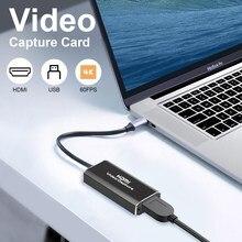 4k placa de captura de vídeo usb 3.0 2.0 hdmi hd 1080p caixa de gravação de vídeo grabber para switch câmera ao vivo streaming gravação ps4 recorde