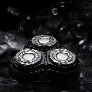 Image 3 - Youpin Enchen שחור אבן 3D לצוף ShaverHead כפול טבעות תער חותך ראשי CutterHead לגברים מתנה מיקום ShaverHead