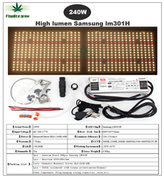 عكس الضوء عالية التجويف سامسونج LM301H الكم مجلس الأشعة فوق البنفسجية الأشعة تحت الحمراء led تنمو ضوء 120 واط 240 واط 320 واط 480 واط ميانويل HLG سائق 7 سن...