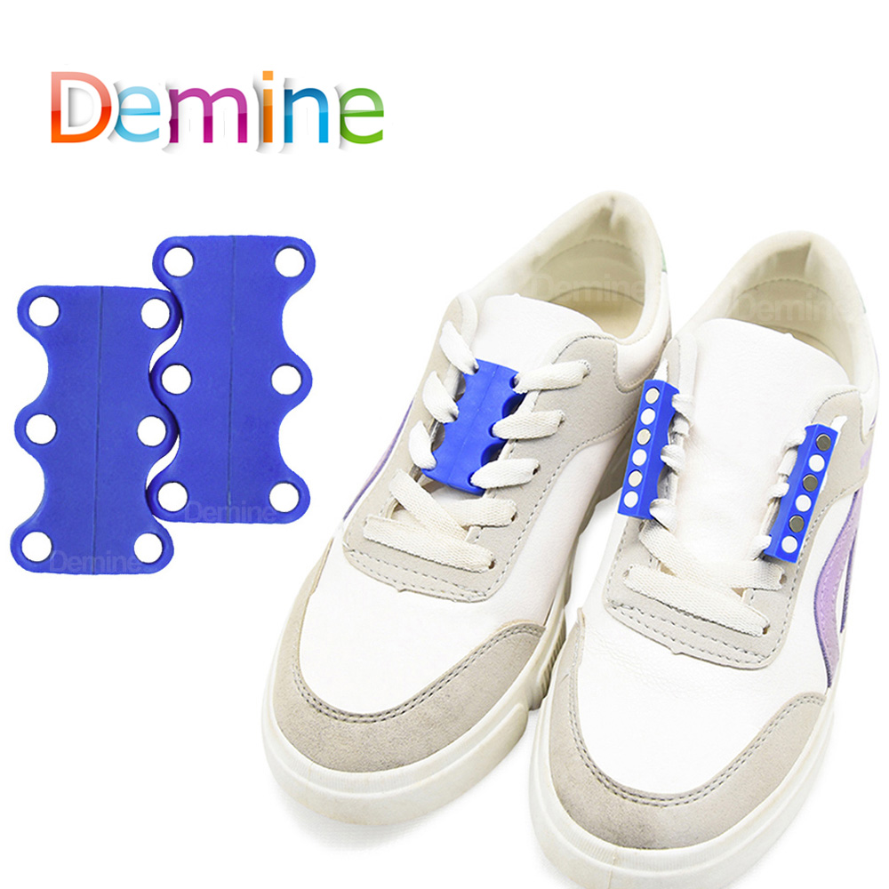 Demine Magnetic Shoes Lace Buckle No-tie Shoelaces Shoes Strap Holder Sneaker Laces Closures Shoes Creative Novelty Buckles Lock