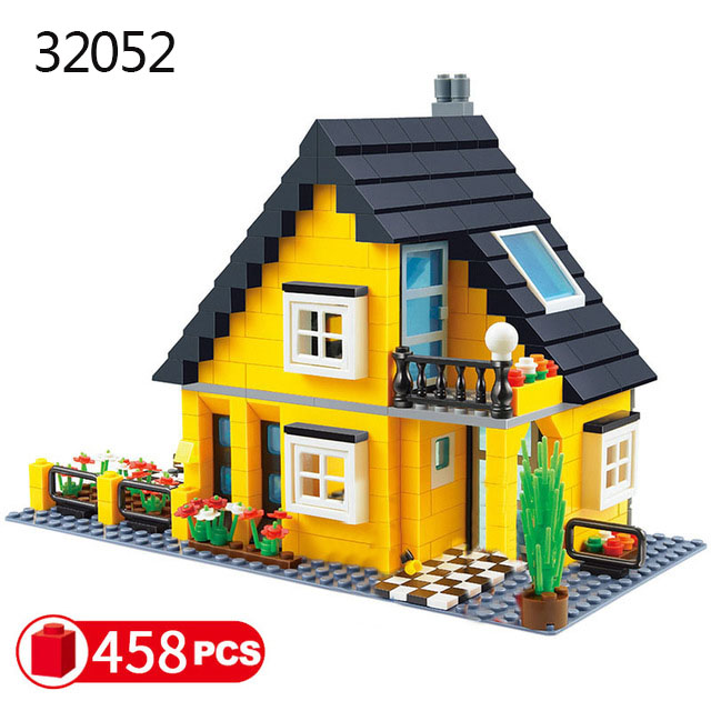 Городская архитектура вилла модель коттеджа Совместимость Legoingly друзья пляж хижина модульный дом деревенские строительные блоки детские игрушки - Цвет: 32052