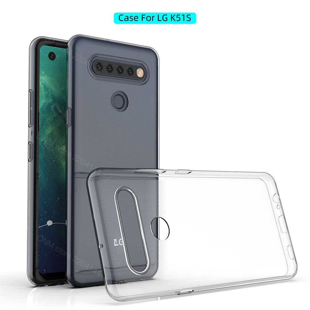 Case For LG K51S TPU Silicon Clear Fitted Bumper Soft Case For LG K51S Transparent Back Cover