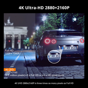 Image 3 - AZDOME GS63H 2.4inches 4K registrar LCD Screen Dash cam Built in GPS Speed Coordinates WiFi DVR 2160p Dual Lens Video recorder