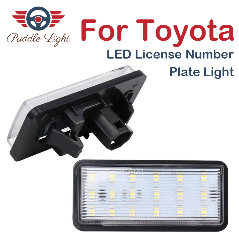 2x LED License Plate Light For Toyota J120 J200 Lexus LX470 Car Number Lamp 12V