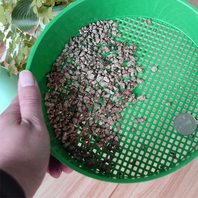 Mesh Gardening Tool Filter Earth And Stone Home Planting Fine Mesh Sieve Light Convenient Environmentally Sturdy Green Plastic