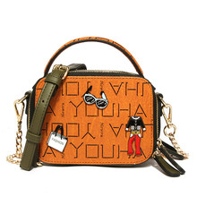 купить Fashion Brand Ladies Purses and Handbags Camera Bag Shoulder Bag Square Mini Messenger Bag  PU Leather Chains Crossbody Bags по цене 1725.33 рублей