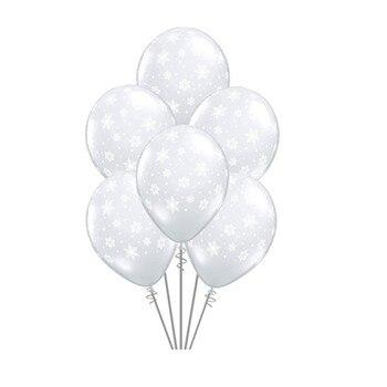 12 pulgadas 10/20/30 copo de nieve 2,5g globo de látex para helio globo Navidad cumpleaños fiesta copo de nieve hielo invierno látex Decoración