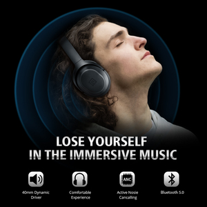 Image 2 - Langsdom BT25Pro Active Noise Canceling Headphones Wireless Bluetooth 38 Hours Play ANC Gaming Headset for PUBG Overwatch