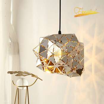 Nordic Creative Irregular LED Pendant Lamp Lighting Modern Minimalism Pendant Lights Bedroom Dining Room Loft Hanging Lamps nordic wrought iron round led pendant lamp lighting modern creative pendant lights bedroom dining kitchen living loft room lamps
