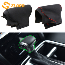 Leather LHD AT Car Gear Shift Collars for Trumpchi GS8 2018-2020 Accessories Gear Head Shift Knob Protection Cover