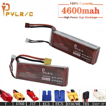High Rate 11.1v 4600mAh Lipo Battery For RC Helicopter Parts 3s Lithium battery 11.1v 45C RC Cars Airplanes Drone Battery T/XT60