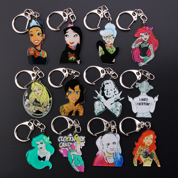 Cute Girl Keychain Charm Women Bag Pendant Key Chain Car Pendant Money Wallet Keyring Kids Gift Toy