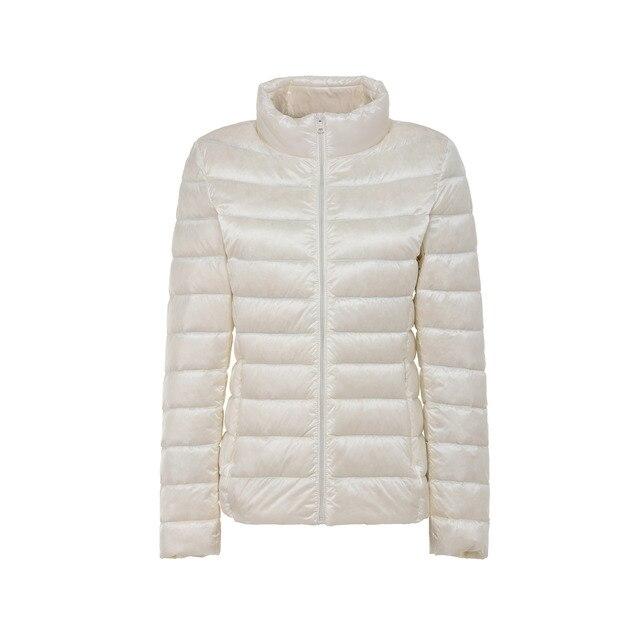 5XL Plus Größe Winter Ultra Licht Weiße Ente Unten Parka Weibliche Mäntel Herbst Mantel Frauen Dünne Puffer Warme Jacke Für mädchen Tunika Hut