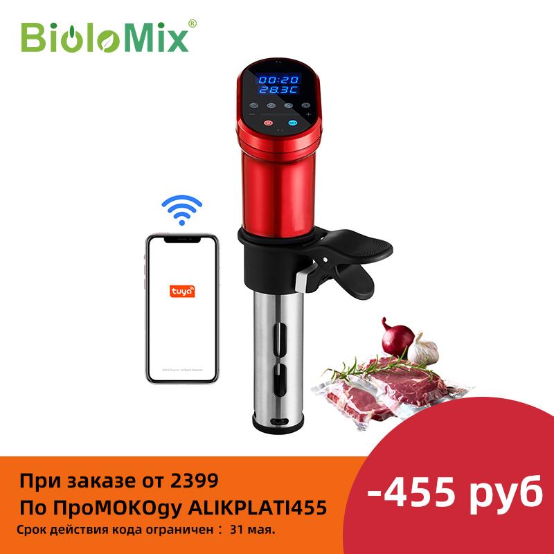 BioloMix 3rd Generation Smart Wifi Control Sous Vide Cooker 1200W Immersion Circulator Vacuum Heater Accurate Temperature