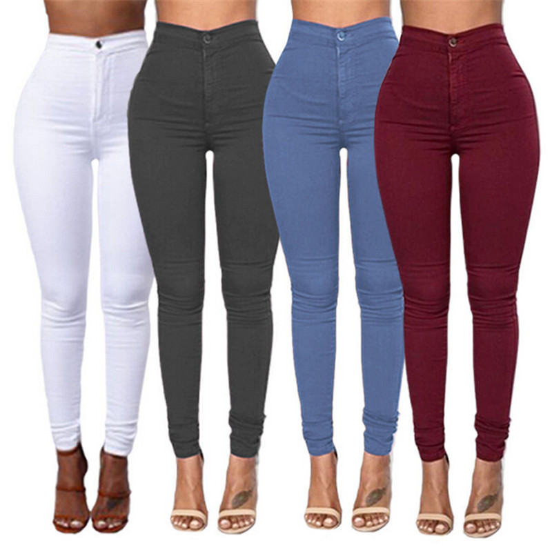 High Waist Slim Pencil Jeans Women Stretch Skinny Pants Trousers Female Joggers Clothing Plus Size 3XL