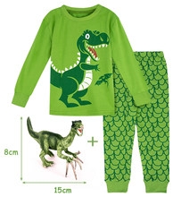 Kids Boy Winter Pyjamas Children Dinosaur Pijamas Cartoon Robot Digger Airplane Boy Pajamas Child Shark Sleepwear Car Nightwear(China)