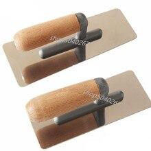 2 шт. из нержавеющей стали с деревянной ручкой строительный раствор доска домашний мастер шпатель строительный держатель инструмент для штукатурки