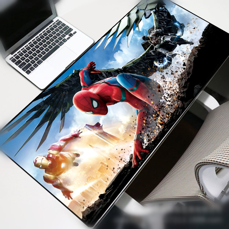 Spiderman HD  MousePads Computer Laptop Anime Mouse Mat Computer Gaming Mouse Pad Gamer Play Mats Desk Mat Portable
