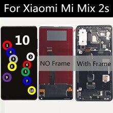 "5.99 ""Xiaomi MI Mix 2S lcd 디스플레이 터치 스크린 디지타이저 어셈블리 교체 용 xiaomi MI mix2s LCD 스크린 용 프레임 LCD 포함"