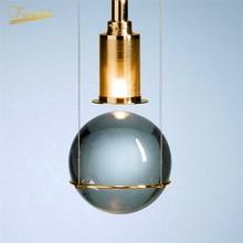 Modern LED Crystal Ball Pendant Lights Lighting Luxury Decoration Pendant Lamp for Loft Hotel Restaurant Stairs Hanging Lamps modern luxury crystal chandeliers lighting led nordic clear crystal balls pendant hanging lamp for staircase restaurant