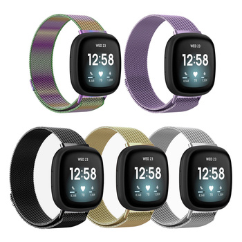 floral printed strap for fitbit versa band silicone flower bracelet fitbit versa replacement bands bracelet wristband watchbands WristBand For Fitbit Versa 3/Fitbit Sense Smart Watch Stainless Steel Mesh Band Replacement Strap for Fitbit Versa 3 Bracelet