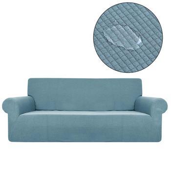 Narzuta na sofę wodoodporne jednokolorowe pokrowce na fotele do salonu pokrowce na sofy elastyczne SA47012 tanie i dobre opinie Yimeis 90cm-140cm Rozkładana okładka Drukowane Nowoczesne Floral Sofa przekroju Mieszanie 9color assemble sofa 680-1200g