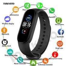 M5 Relógios Das Mulheres Dos Homens de Fitness Heart Rate Monitor de Pressão Arterial Inteligente Rastreador Smartwatch Banda 5 Esporte Relógio para IOS Android