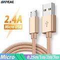 Кабель Micro USB для быстрой зарядки Samsung Galaxy A3 A5 A7 2016 J3 J5 J7 A6 A7 2018, зарядный usb-кабель, зарядный кабель Kabel 1 м/2 м/3 м/0,25 м