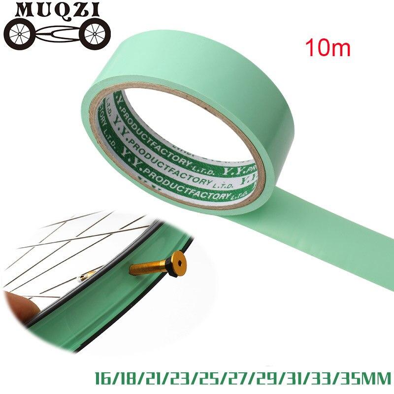 MUQZI 10 м бескамерная лента ширина 16/18/21/23/25/27/29/31/33/35 мм для горного велосипеда, шоссейного велосипеда, колеса из углеродного волокна