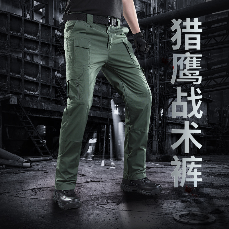 Jungle Base Falcon Tactical Pants Army Fans Slim Fit Multi-pockets Single Pants Outdoor Charge Pants City Secret Service Pants