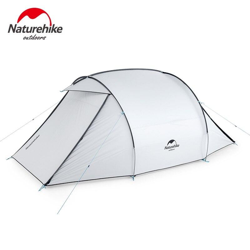 NatureHike 3 Pessoas Grande Espaço 2 Maneira Porta Revestido de Prata Protetor Solar À Prova de Chuva Barraca de Acampamento Ao Ar Livre barraca Da Família