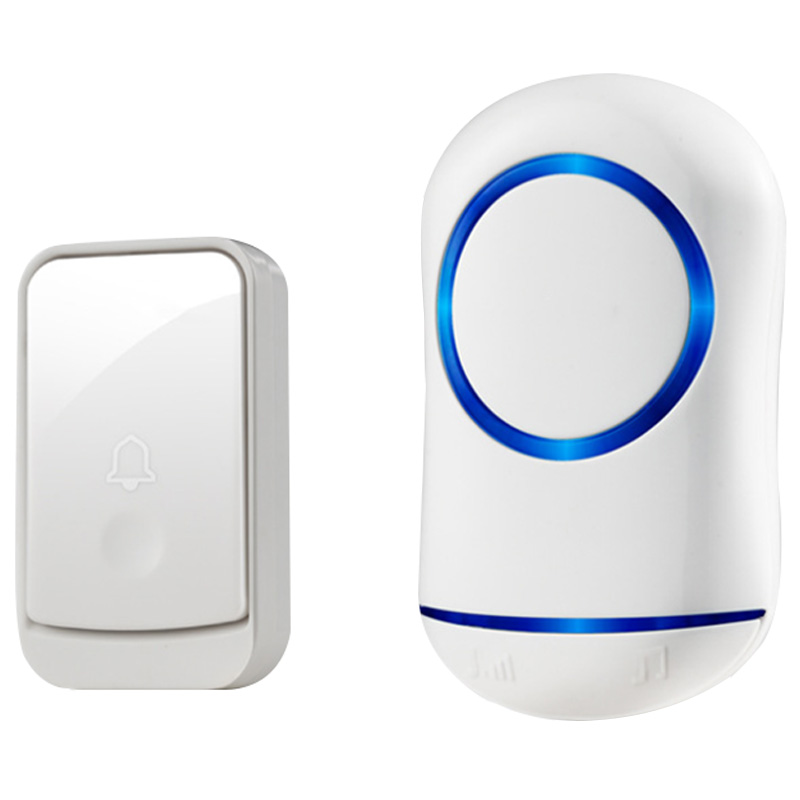 ABKT-Eu Plug Doorbells 45 Songs Wireless Door Bell Set Home Security Doorbell+Receiver Rainwater Infiltration-Proof