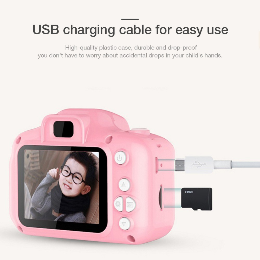 H2532398f47a244828d8c27e0b30eab707 Rechargeable Kids Mini Digital Camera 2.0 Inch HD Screen 1080P Video Recorder Camcorder Language Switching Timed Shooting #S
