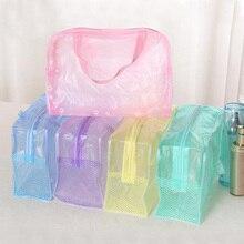 Cosmetic-Bag Beauty-Case Clear Wash Zipper Transparent Travel Waterproof Women PVC Girl