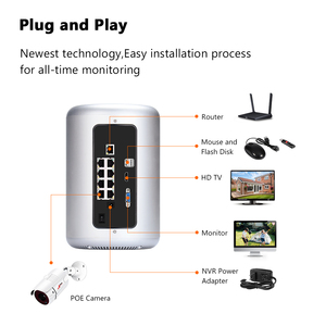 Image 5 - ANRAN Security Camera System POE 8CH H.265 NVR 5MP Security Camera Night Vision Waterproof HD Outdoor Video Surveillance System