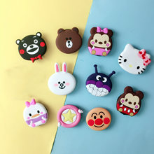 Dier Telefoon Stand Beugel Universele Handige Epoxy Vouw Luie Lucht Finger Stand 3D Korea Cartoon Cacao Qute Animas Socket(China)