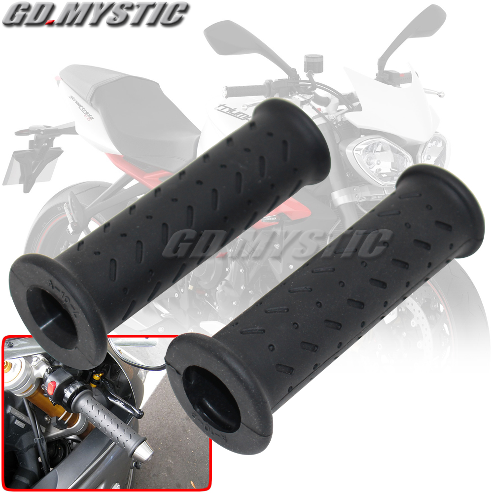 Motorcycle Accessories Gel Rubber Handlebar Grips For Triumph Daytona 675 675r 955 955i 1200 T100 T120 T595 1050 Tiger 800|Grips|   - title=