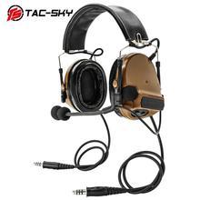 COMTAC TAC SKY oreillettes en silicone, double passe, casque tactique, réduction du bruit, pick up, pour militaire