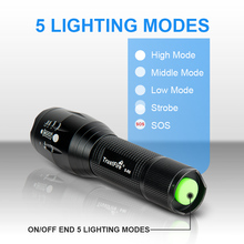 Trustfire S-R6 Zoomable EDC LED Flashlight Portable Torch Lantern 18650 Work Hand Flash Light For camping