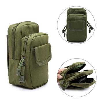 Outdoor pokrowiec wojskowy Molle Belt Pack EDC uniwersalna torba Tactical Utility wodoodporna talia etui na telefon piterek Bag tanie i dobre opinie CN (pochodzenie) NYLON