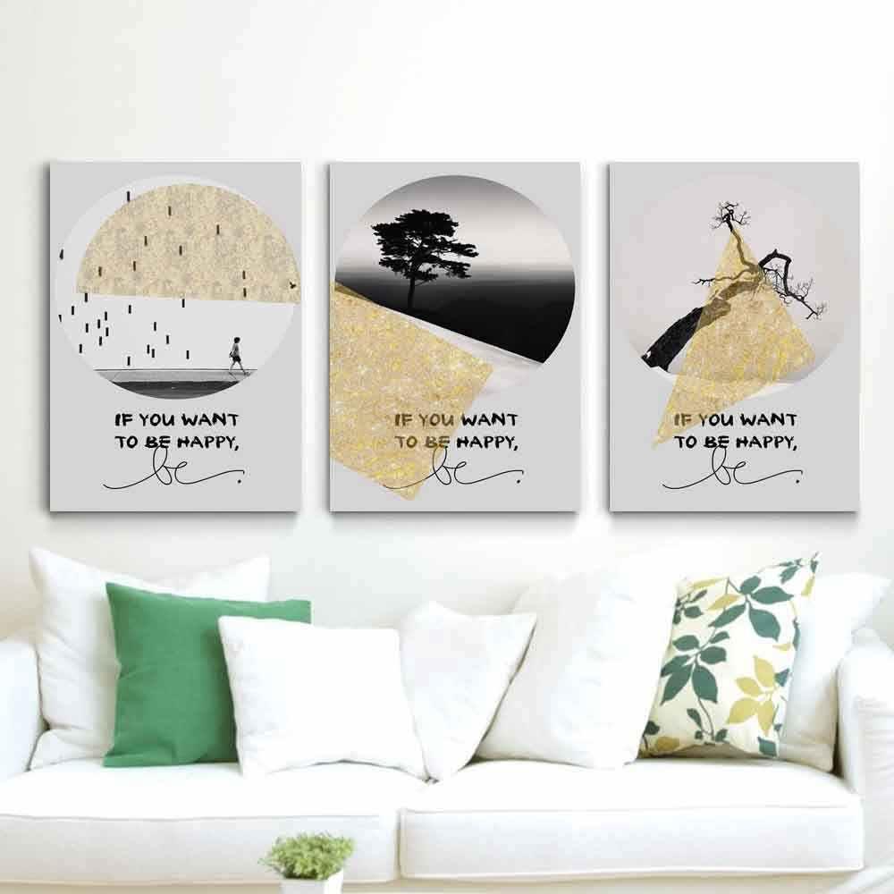 Модная Подарочная картина, пейзаж, английский слоган, простой плакат, Картина на холсте для гостиной, коридора, кабинета, украшение для дома