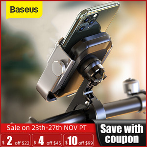 Baseus Motorcycle Phone Holder for Motor Rear View Mirror Handlebar Mount Scooter Motor Bike Holder for Bicycle Phone Holder