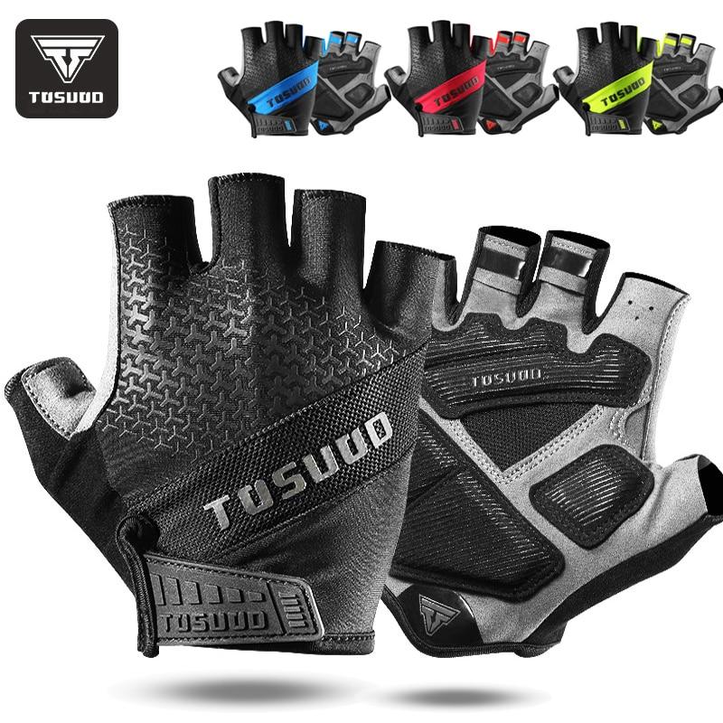 Велосипедные перчатки TOSUOD 2021, новые нескользящие перчатки для горного велосипеда, перчатки с открытыми пальцами для мужчин, летние велосип...
