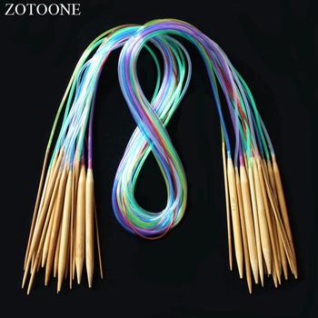 ZOTOONE wielokolorowe rurki 18 rozmiar zestaw okrągłe szydełka szydełka akcesoria do szycia szycie rękodzieło narzędzia dziewiarskie ścieg D tanie i dobre opinie Knitting CN (pochodzenie) Druty dziewiarskie wood
